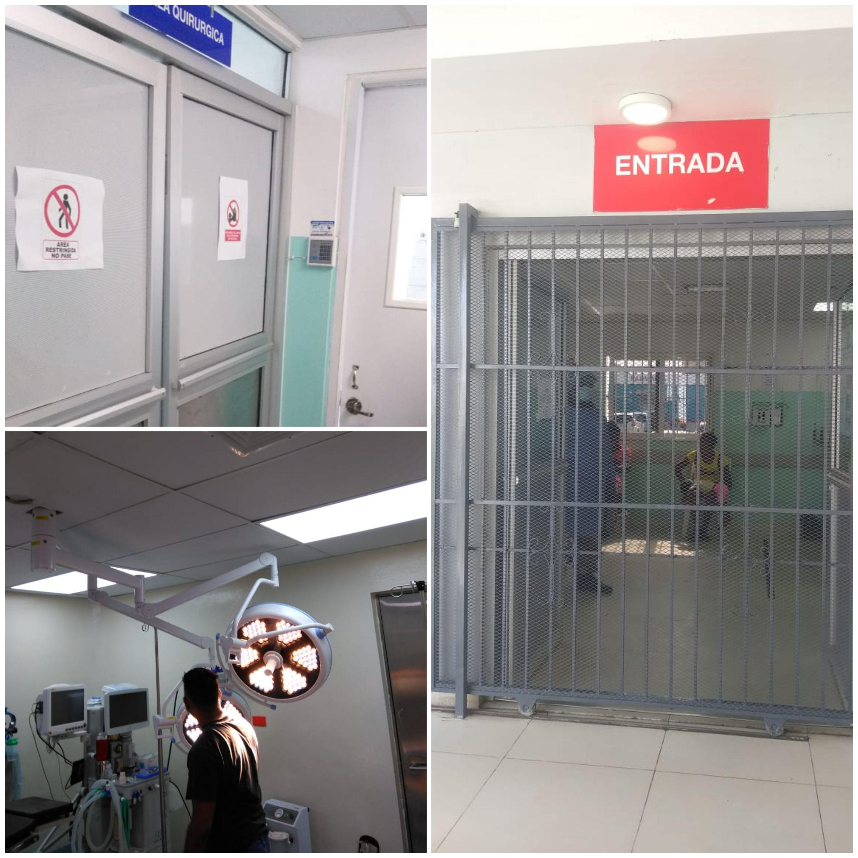 Dirección General del Hospital Local El Almirante realiza operativo de ingeniería, reparación y limpieza de su edificación.